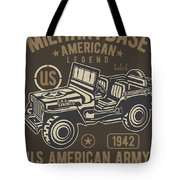 Us American Amry Jeep Tote Bag