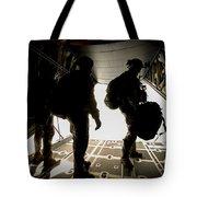 U.s. Army Green Berets Wait To Jump Tote Bag