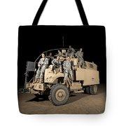U.s. Army Medical Personnel Pose Tote Bag