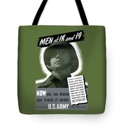 Vintage Us Army Recruiting Poster Tote Bag