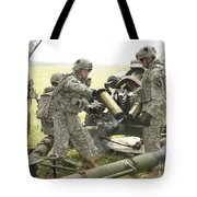 U.s. Army Soldier Throws A Spent 105mm Tote Bag