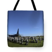 U.s. Army Soldiers Conduct Pre-jump Tote Bag