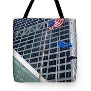 Us Bank With Flags Tote Bag