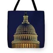 U.s. Capitol At Night Tote Bag