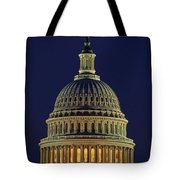 U.s. Capitol At Night Tote Bag