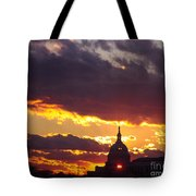 U.s. Capitol Dome At Sunset Tote Bag