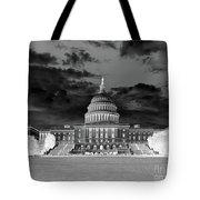 Us Capitol Washington Dc Negative Tote Bag