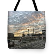 Us Cell Sunset Tote Bag
