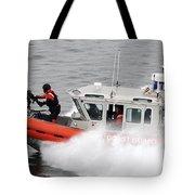 U.s. Coast Guardsmen Aboard A Security Tote Bag