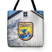 Us Fish And Wildlife Service Sign  3931 Tote Bag