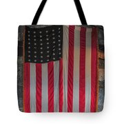 Us Flag At Whiteface Mountain Ny Tote Bag