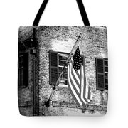Us Flag In Colonial Williamsbug Tote Bag