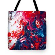 Us Flag Is Waving Tote Bag