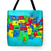 Us Map With Theme  - Free Style -  - Da Tote Bag