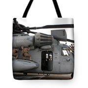 U.s. Marines Perform Preflight Checks Tote Bag