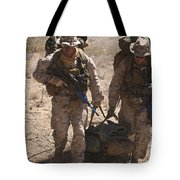 U.s. Marines Prepare To Board A Uh-60 Tote Bag