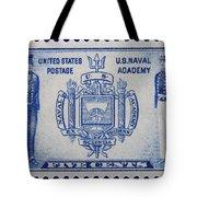 Us Naval Academy Postage Stamp Tote Bag