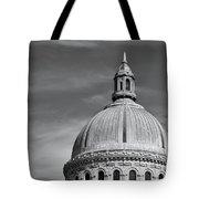 U.s. Naval Academy Chapel Dome Bw Tote Bag