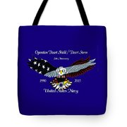Us Navy Desert Storm Tote Bag