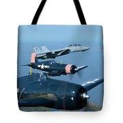 Us Navy Lagacy Flight  Tote Bag