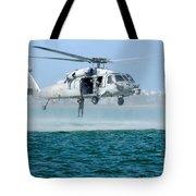 U.s. Navy Sh-60s Sea Hawk Helicopter Tote Bag