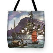U.s. Navy Travel Poster Tote Bag