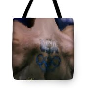 Us Olympian Tattoo Tote Bag