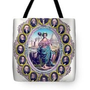Us Presidents And Lady Liberty  Tote Bag