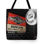 Us Route 66 Briggs And Stratton Signage Sc Tote Bag