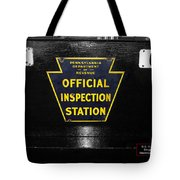 Us Route 66 Smaterjax Dwight Il Official Inspection Signage Tote Bag
