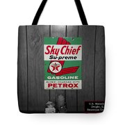 Us Route 66 Smaterjax Dwight Il Sky Chief Supreme Signage Tote Bag