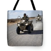 U.s. Soldiers Perform Maneuvers Tote Bag