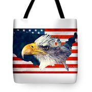 Usa Flag Eagle Tote Bag