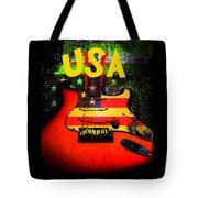 Usa Guitar Music Tote Bag