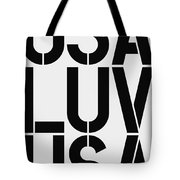 Usa Luv Tote Bag