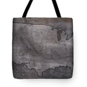 Usa Map Outline On Concrete Wall Slab Tote Bag