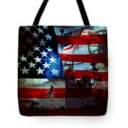 Usa Patriot Flag And War Tote Bag