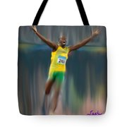 Usain Bolt 2008 Tote Bag