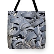 Used Tires At Junk Yard Tote Bag