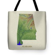 Usgs Map Of Alabama Tote Bag