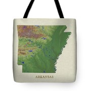 Usgs Map Of Arkansas Tote Bag