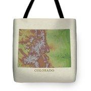 Usgs Map Of Colorado Tote Bag