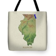 Usgs Map Of Illinois Tote Bag
