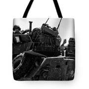 Usmc On The Move In A Lav-25 Tote Bag