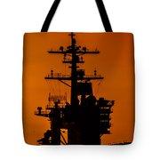 Uss Carl Vinson At Sunset 2 Tote Bag