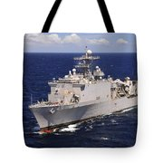 Uss Comstock Transits The Indian Ocean Tote Bag