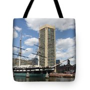 Uss Constellation - Baltimore Inner Harbor Tote Bag