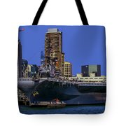Uss Midway San Diego Ca Tote Bag