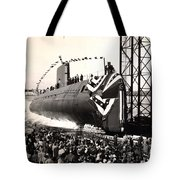 Uss Nautilus Slips Into The Thames Tote Bag