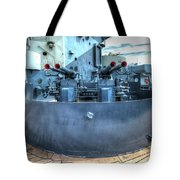 Uss North Carolina, Bb 55, 40mm Guns Tote Bag
